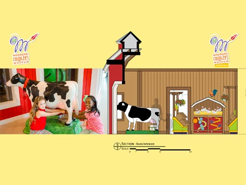 Animated Cow in Barn