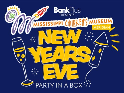 New Year's Eve Graphic in Blue and Yellow