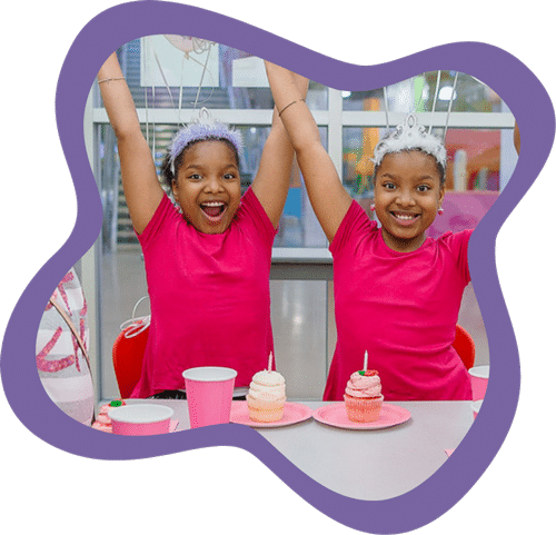 Twins celebrating their birthday at the Mississippi Children's Museum