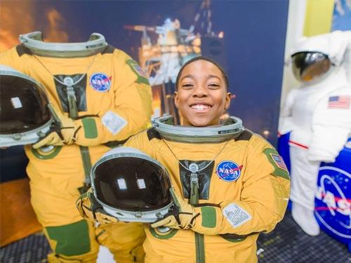 People in NASA uniforms