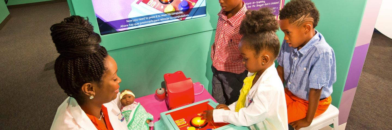 Doc McStuffins exhibit at the Mississippi Children's Museum.